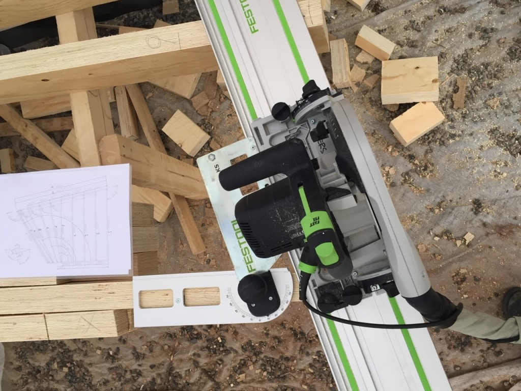 Festool plunge saw angle cut